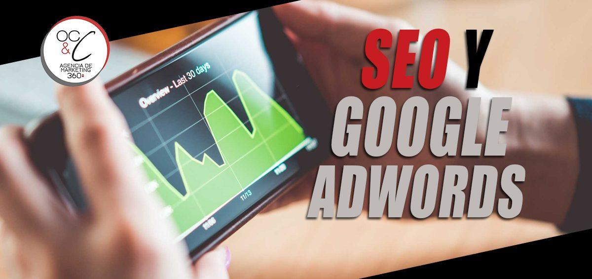 SEO y Google ADWORDS cabecera OC&C Agencia de marketing 360º