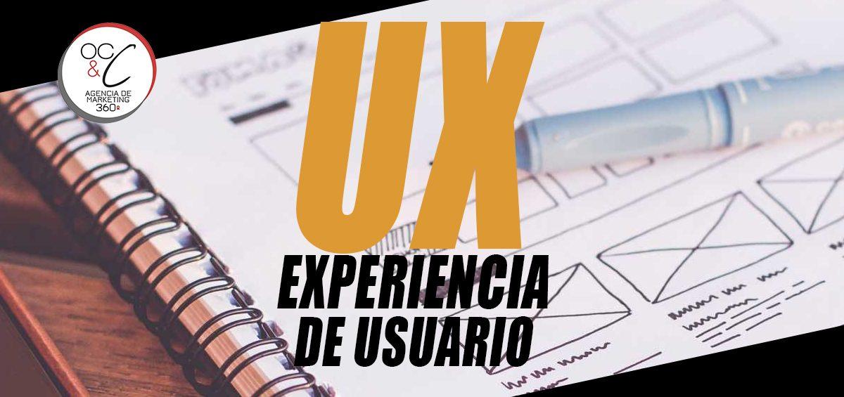 UX Experiencia de usaurio OC&C Agencia de Marketing 360º